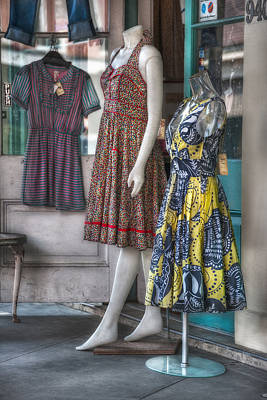 Dresses For Sale Poster by Brenda Bryant