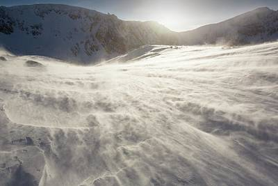 Drifting Snow In Cairngorm Poster by Ashley Cooper