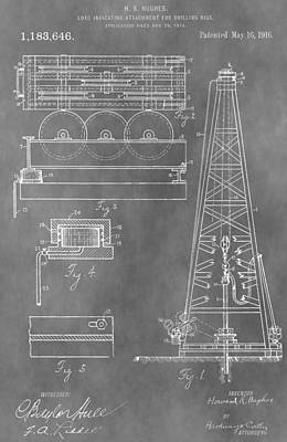 Drilling Rig Patent Poster by Dan Sproul