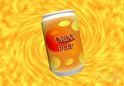Drink Beer  Poster by Rob Hawkins