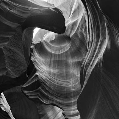 Drinking From The Fountain Antelope Canyon Navajo Nation Page Arizona Poster by Silvio Ligutti
