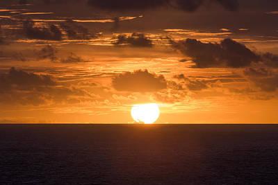 Drowning Sun Poster by Ocean Photos