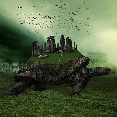 Druid Golf Poster by Marian Voicu