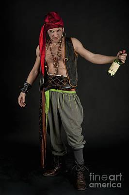 Drunk Male Pirate Poster by Ilan Amihai