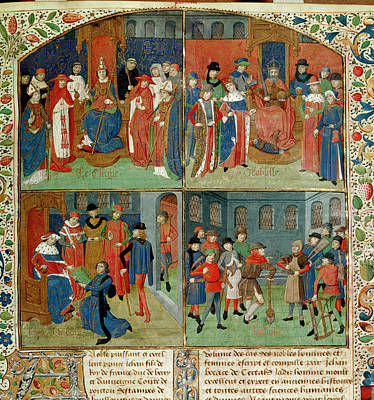 Duc De Berry Receiving The Book Poster by British Library