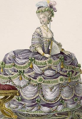Duchess Evening Gown, Engraved Poster by Pierre Thomas Le Clerc