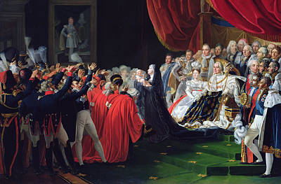 Duchess Of Berry Presenting The Duke Of Bordeaux To The People And The Army Poster by Charles Nicolas Raphael Lafond