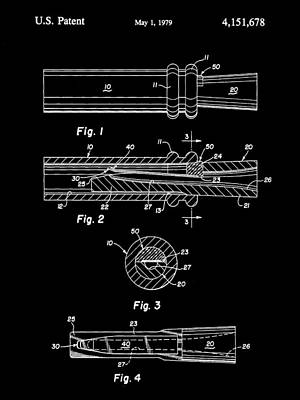 Duck Call Patent 1979 - Black Poster by Stephen Younts