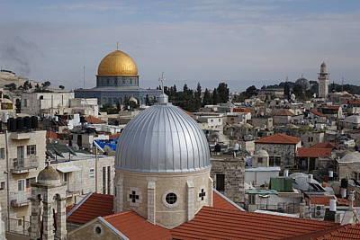 Dueling Faith In Jerusalem Poster by Rita Adams