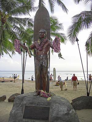 Duke Kahanamoku Of Hawaii Poster by Daniel Hagerman