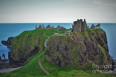 Dunnottar Castle Poster by Miryam  UrZa