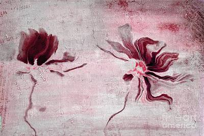 Duo Daisies - 43t3red Poster by Variance Collections