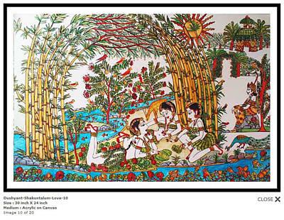 Dushyant-shakuntalum-love-10 Poster by Bhanu Dudhat