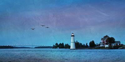 Dusk At Rock Island Poster by Lori Deiter