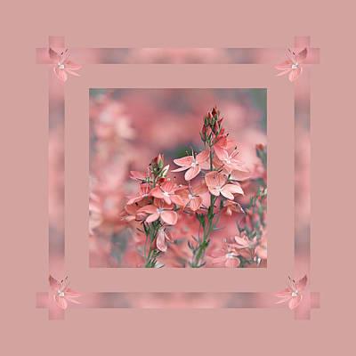 Dusky Pink Ribbons Poster by Gill Billington