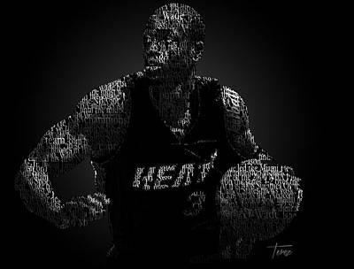 Dwayne Wade Poster by Justo Terez Jr