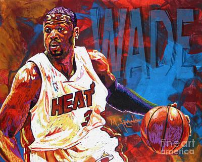 Dwyane Wade 2 Poster by Maria Arango
