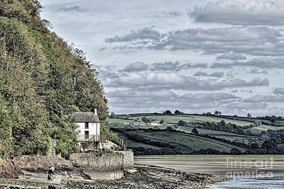 Dylan Thomas Boathouse At Laugharne Poster by Steve Purnell
