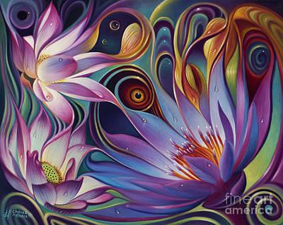 Dynamic Floral Fantasy Poster by Ricardo Chavez-Mendez