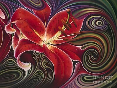 Dynamic Reds Poster by Ricardo Chavez-Mendez