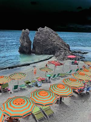 e le Cinque Terre Beach Poster by Mark J Dunn