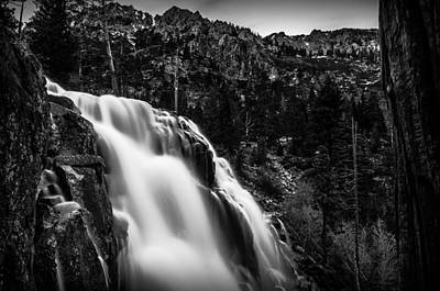 Eagle Falls Black And White Poster by Scott McGuire