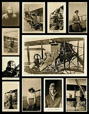 Earlier Aviators Poster by Gwyn Newcombe