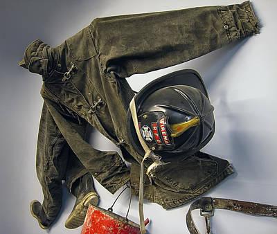Early Firemen Gear Poster by Daniel Hagerman
