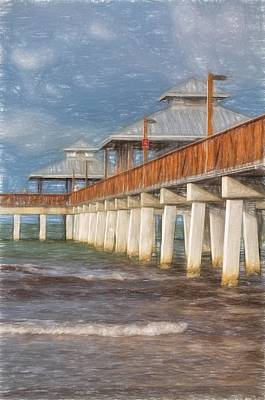 Early Morning At Fort Myers Beach Poster by Kim Hojnacki