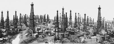 Early Oil Field Poster by Daniel Hagerman