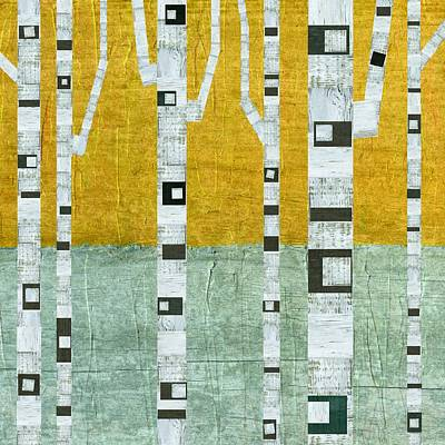 Early Winter Birches Poster by Michelle Calkins