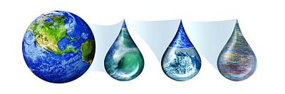 Earth's Water Resources Poster by Nicolle R. Fuller