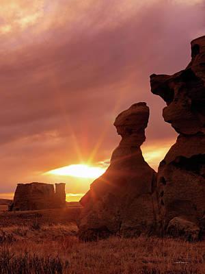 East Montana Medicine Rocks Poster by Leland D Howard