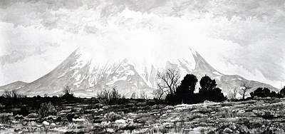 East Spanish Peak Poster by Aaron Spong