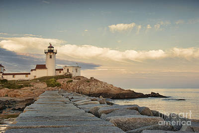 Eastern Point Lighthouse Poster by Juli Scalzi