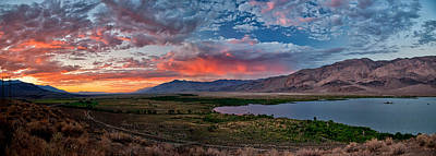 Eastern Sierra Sunset Poster by Cat Connor