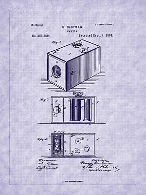 Eastman's 1888 Camera Patent Art Poster by Barry Jones