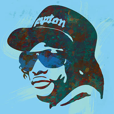 Eazy-e Pop  Stylised Art Sketch Poster Poster by Kim Wang