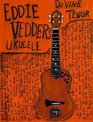 Eddie Vedder Ukulele Poster by Karl Haglund