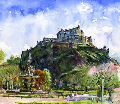 Edinburgh Castle Scotland Poster by John D Benson