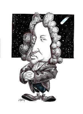 Edmond Halley, Caricature Poster by Science Photo Library