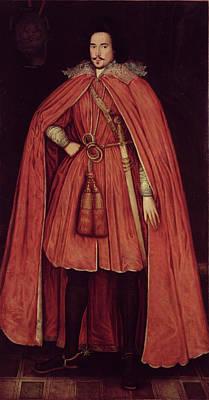 Edward Herbert, Lord Herbert Of Cherbury, C.1604 42 Oil On Canvas Poster by Robert Peake