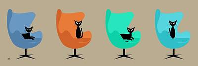Egg Chairs Poster by Donna Mibus