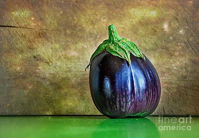 Eggplant Poster by Kaye Menner