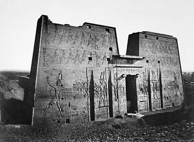 Egypt Temple Of Horus Poster by Granger