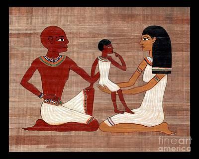 Egyptian Family Print Poster by Pet Serrano
