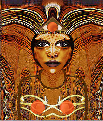 055 - Egyptian Woman Warrior Magic   Poster by Irmgard Schoendorf Welch
