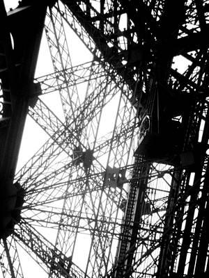 Eiffel Tower Lift Poster by Rita Haeussler