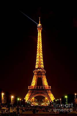 Eiffel Tower Night Poster by Olivier Le Queinec