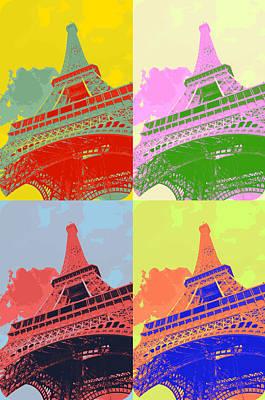 Eiffel Tower - Pop Art Poster by Patricia Awapara